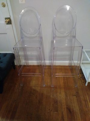 Ghost bar chairs, clear for Sale in Washington, DC