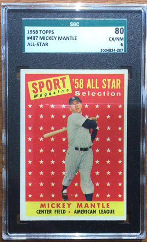 1958 Topps Baseball Card - Mickey Mantle All Star - New York Yankees for Sale in Middleton, MA
