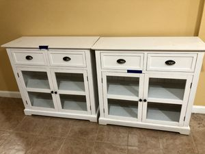 Wooden white table cabinets for Sale in Herndon, VA