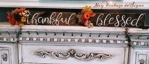Thankful Blessed rustic farmhouse fall signs for Sale in Delaware, OH