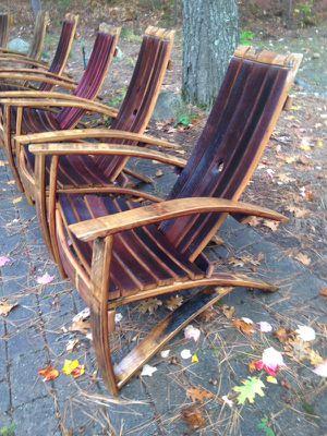 Chairs red wine barrel adirondak for Sale in Gaylord, MI