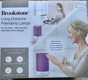 NEW! Brookstone Long-Distance Friendship Lamps Set Of Two Alexa Google Assistant for Sale in Gaithersburg, MD
