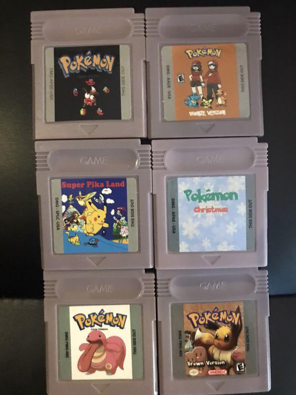 Gameboy and Gameboy color Pokémon rom hacks and homebrews