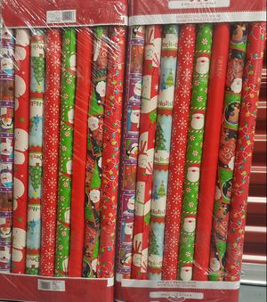 Christmas wrapping papers 2 for $20 or 1 for $10. for Sale in Passaic, NJ