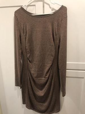 Women's gold sweater dress- size large for Sale in San Diego, CA