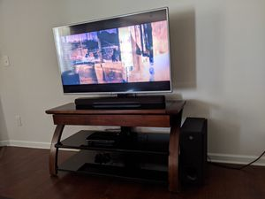 Mahogany and glass TV stand for Sale in Winston-Salem, NC