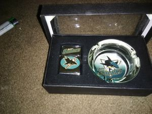 Sharks zippo and ashtray for Sale in Hayward, CA