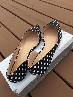 Women's shoes size 9 Cortini ballet flat black and white polka dots for Sale for sale  Springfield Township, NJ