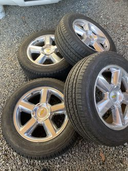 Chevy Silverado Tahoe suburban oem wheels and tires 20 for Sale in Renton,  WA