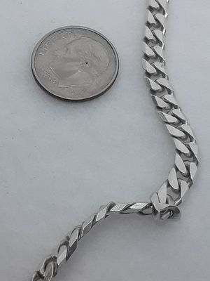 Real Solid .925 Italy Sterling Silver Miami Cuban Link Necklace 24 Inches 5MM for Sale in Hollywood, FL