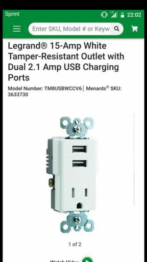 Legrand Outlet Dual 2.1 Amp USB Charging Ports for Sale in Seattle, WA