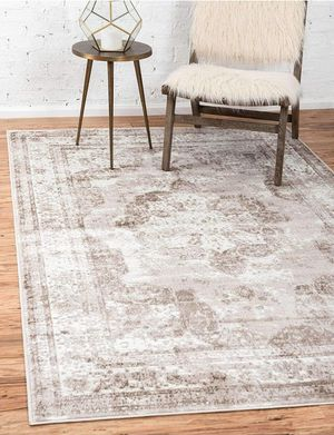 Home Area Rug 8 x 10 Feet, Light Brown Tan for Living Room for Sale in Corona, CA