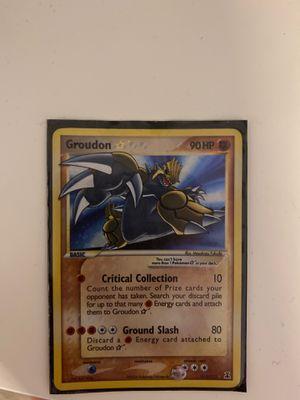 Ultra rare pokemon card shining Groudon for Sale in Apex, NC
