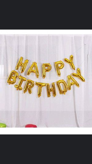 Happy Birthday Balloon Banner $15 for Sale in Long Beach, CA