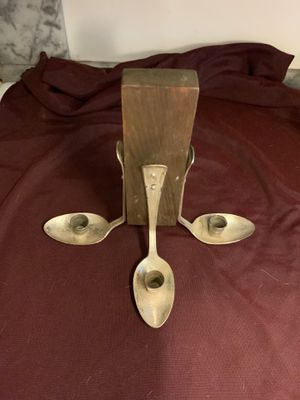 Spoon /Thimble Tri-Wall mount Candle Holder for Sale in Littleton, MA