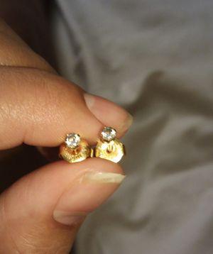 Real Gold Diamond Earrings for Sale in Merced, CA