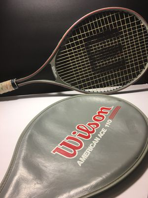 Vintage Wilson American Ace LargeHead Tennis Racket with Cover. for Sale in El Paso, TX