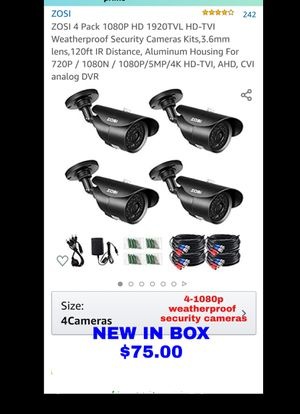 NEW inBOX-4 ZOSI 1080P HD-TVI Weatherproof Security Cameras -120ft IR Distance for Sale in Cleveland, OH