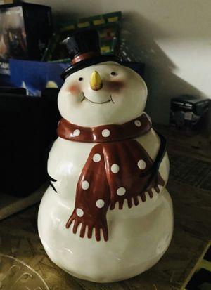 Ceramic snowman cookie jar for Sale in Peoria, AZ