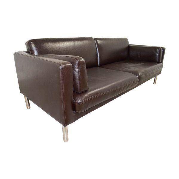 Brown Leather Futon