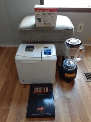 Regal bread machine and recipe book 5 speed mixer and a blender all new new new condition for Sale in Webster, NH