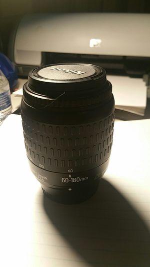 Nice Nikon60=180 mm camera lense 35 mm 1.4.5 5 6 for Sale in Marietta, GA
