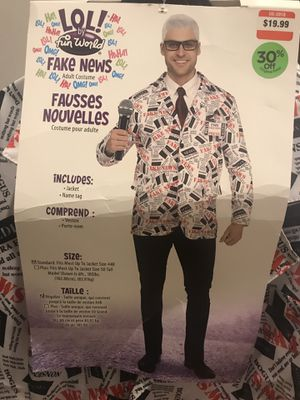 Fake news Halloween costume with microphone for Sale in Boston, MA
