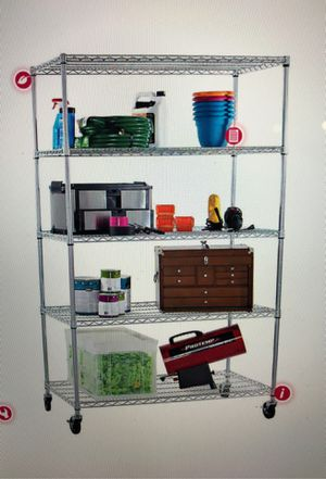 Storage Shelving Tiered Wire Racks in Chrome Silver for Sale in Redmond, WA