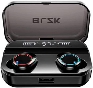 Wireless Earbuds, Latest Bluetooth 5.0 True Wireless Bluetooth Earbuds, with bass 3D Stereo Sound Wireless Headphones, Built-in Microphone LED Digita for Sale in Upland, CA
