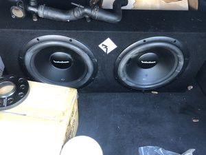 2x12 Rockford Fosgate Subwoofers / Amp for Sale in Orlando, FL