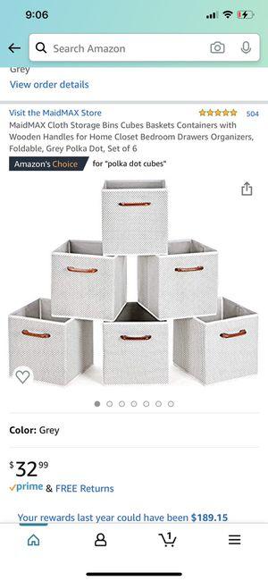 Cloth Storage Bins for Sale in Chicago, IL
