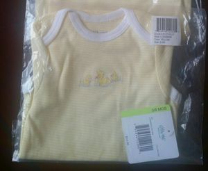 Brand New -4 Pack Little me Baby Infant Kid's Ducks Bodysuits, Yellow, 3-6Months / Baby Clothes/ Baby Stuff for Sale in Katy, TX
