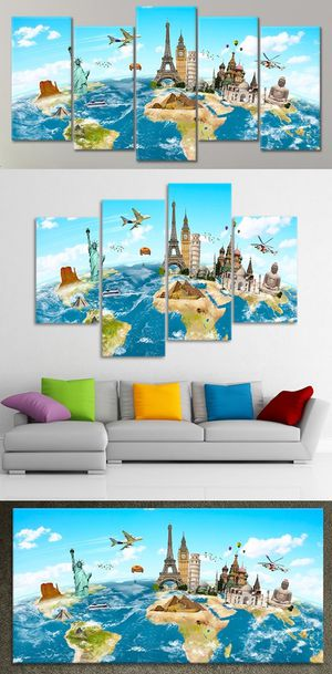 World Map 😍 Framed Wall Art paintings Canvas 👇Purchase Here 👇 StunningCanvasPrints-com Prices Start @ $79 Hundred of Designs FREE SHIPPING!🚚🚀✈️ for Sale in Boston, MA