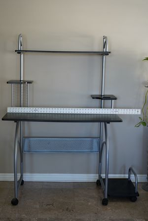 Computer Desk with Tower Stand and Shelf for Sale in Culver City, CA