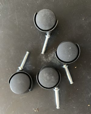 Caster Wheels Set Of 4 Push In For Plastic Drawers Ect for Sale in Davenport, FL