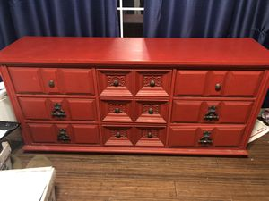 Custom Red Dresser unique design for Sale in Peyton, CO