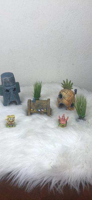 SpongeBob fish tank ornaments for Sale in Dallas, TX