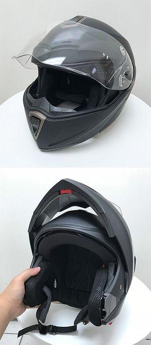 Brand New $45 Full Face Motorcycle Bike Helmet Flip up Dual Visor (M, L, XL) DOT Approved for Sale in Downey, CA