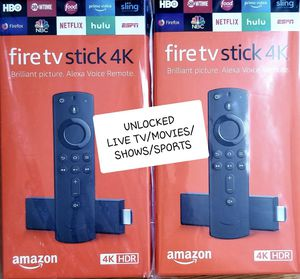 Amazon 4K Fire TV Stick Unlocked with best setup for Sale in Brooklyn, NY