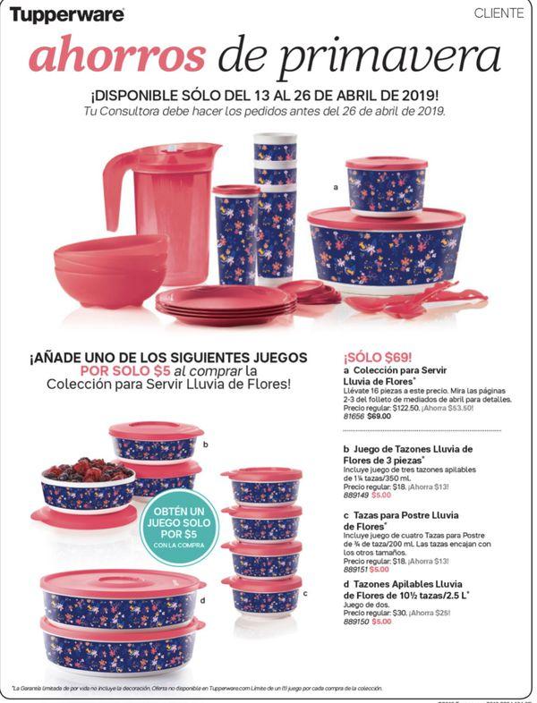 Tupperware Lluvia De Flores Set Other Baking Accessories Home & Garden