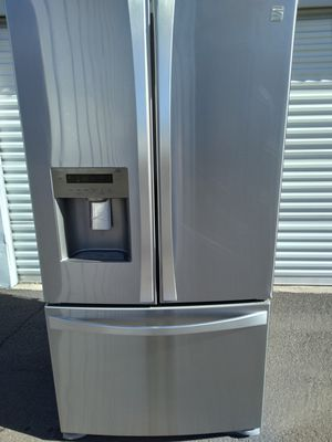 kenmore french door stainless steel refrigerator, in good condition works very well, 30 days warranty, deliver available, W36-D32-H69 for Sale in Tempe, AZ