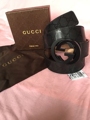 Gucci Black Imprime Belt 95/38 + more sizes available for Sale in Edgewater, NJ