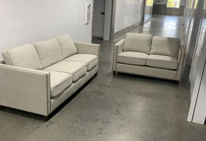 Modern Furniture Coaster Sofa / Couch and Loveseat Set Beige for Sale in Irvine, CA