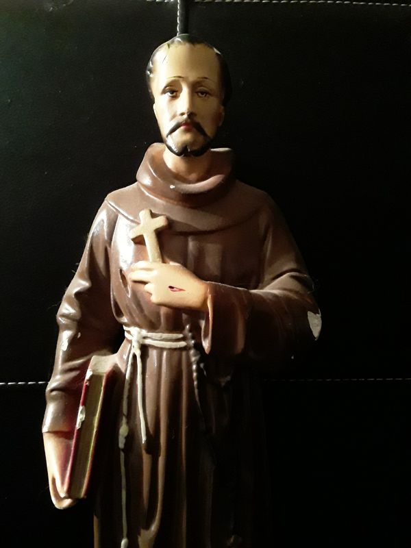 15' vintage St Francis statue made in italy