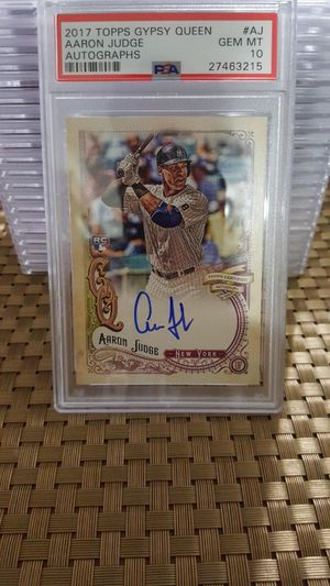 Aaron Judge RC Autographed PSA 10 2017 Gypsy Queen for Sale in Miami, FL