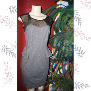 Gray peplum dress size 8 for Sale in Glendale, AZ