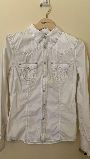 Women true religion plaid shirt size small🤍 for Sale in Sacramento, CA