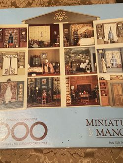 Vintage 1984 Springbok 1000 Piece Jigsaw Puzzle - Miniature Manor for Sale in Pittsburgh,  PA