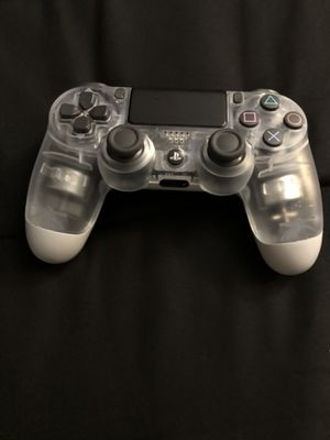 Ps4 wireless clear controller for Sale in Dallas, TX