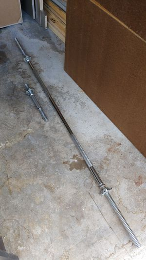 30lb Olympic bar and 5lb curling bar for Sale in Tacoma, WA